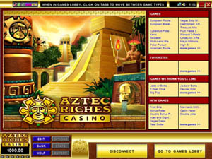 Screenshot of Aztec Riches Casino Lobby