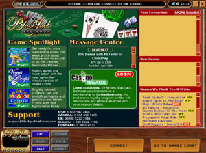 Screenshot of Blackjack Ballroom Casino Lobby