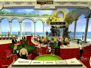 Screenshot of Caribbean Gold Casino Lobby