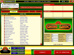 Screenshot of Classic Casino Lobby