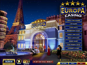 Screenshot of Europa Casino Lobby