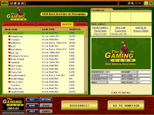 Screenshot of The Gaming Club Casino Lobby
