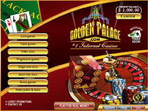 Golden Palace Flash Casino Lobby