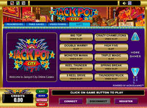Jackpot City Flash Casino Lobby