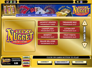 Lucky Nugget No Download Casino Lobby