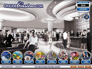 Screenshot of OnlineCasino.com Lobby
