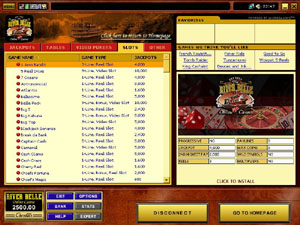 Screenshot of Riverbelle Casino Lobby
