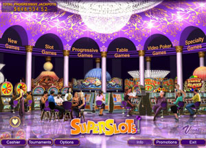 Screenshot of Superslots Casino