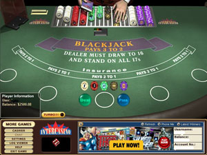 Download InterCasino's Cryptologic Blackjack Software Now!