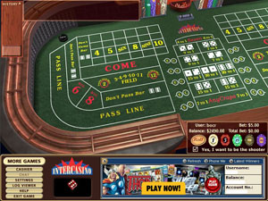 Click to Download InterCasino and Start Playing Craps Now!